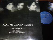 UNAI HIRUKOA/ LUIS IRIONDO /M. MARIA AZPIAZU - Gudu Amodio Kantak LP EUSKAL 1977