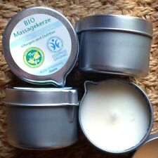 Stuwa Bio-Massagekerze Duftfrei Natural 50ml Kokosöl Bienenwachs Soja Aloe Vera