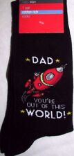 "MEN'S SOCKS DAD ""YOU'RE OUT OF THIS WORLD"" NEW M&S SIZE 6-12 UK 39-47 EUR BLACK"