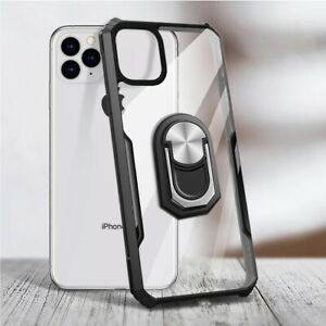 Clear Case For Apple Iphone 13 PRO MAX With Holder Full Protective HardBack Case