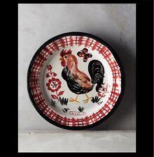 "New Anthropologie Nathalie Lete ""Rooster"" Francophile Dinner Plate ~ Sold Out!"