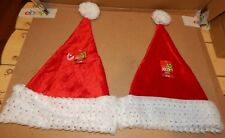 Christmas Sparkle Santa Hats 2 Each Red/White Adult Head Size Be Jolly 150I