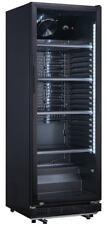 Flaschenkühlschrank Getränkekühlschrank 360 Liter und Glastür Komplett Schwarz