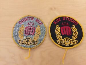 TAE KWON DO VINTAGE  PATCH,KIM STUDIO A.T.A., NEW OLD STOCK,1970'S