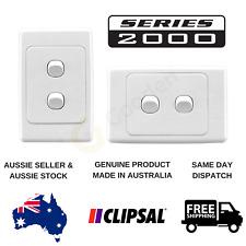 Clipsal 2000 Series 2 Gang Light Switch (2032VA / 2032HA)