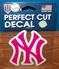 NEW YORK YANKEES PINK WINCRAFT 4X4 DECAL STICKER