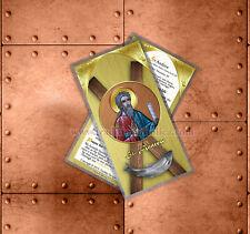 Saint St Andrew the Apostle Catholic Icon Holy Prayer Card.