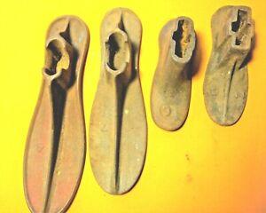 Antique Cobbler Shoemaker Cast Iron Shoe Lasts With Stand