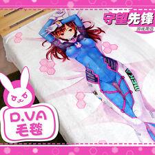 Overwatch D.VA Cute Warm Flannel Blanket Sheet OW Air Condition Quilt 150*200cm