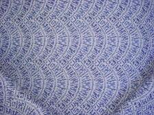 21Y KRAVET DESIGN BALTIC BLUE / GREY ROUND CHEVRON DRAPERY UPHOLSTERY FABRIC