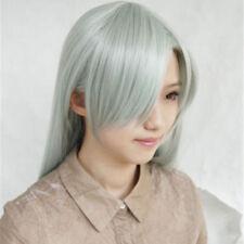 The Seven Deadly Sins Elizabeth Liones 80cm Long Gray Cyan Cosplay Hair Wig