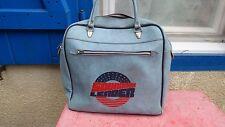 sac de sport Squadron Leader  simili cuir bleu souple vintage 70's