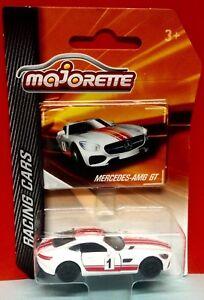 Majorette Mercedes AMG GT Racing Cars 1:64 Die Cast White