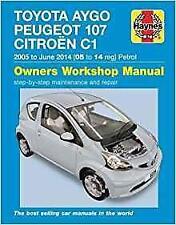 Haynes PEUGEOT 107 (05-14) ALLURE ENVY VERVE Owners Service Manual Handbook Book