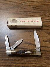 """Vintage Case XX USA 6308 """"Whittler"""" Bone 3 Blade Near Mint"""