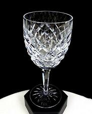 """WATERFORD SIGNED CRYSTAL COMERAGH PATTERN DIAMOND CUT 7"""" WATER GOBLET 1974-2017"""