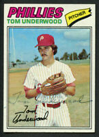 Tom Underwood #217 signed autograph auto 1977 Topps Baseball Trading Card