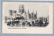 DURHAM CATHEDRAL FROM ST OSWALD'S  - Unposted Antique Undivided Back Postcard
