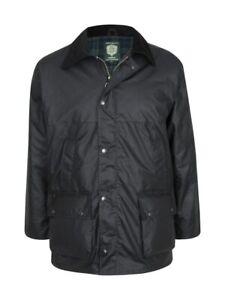 Portmann Mens Premium Quality Padded Waxed Jacket
