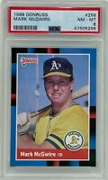 MARK MCGWIRE 1988 Donruss Oakland ATHLETICS A's Baseball CARD #256 PSA NM-MT 8