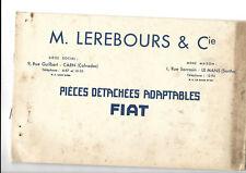 Catalogue Pièces détachées Adaptables FIAT - Lerebours & Cie  - Octobre 1931