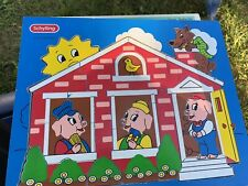 Schylling Wood Puzzle 3 Little Pigs