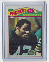 PACKERS John Brockington signed card #166 AUTO 1977 Topps Autographed Green Bay