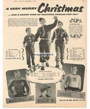 1952 BOY SCOUTS BSA Uniform Clothing w/prices Merry Christmas VTG PRINT AD
