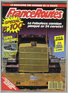 FRANCE ROUTES ROUTIERS N° 100   sans POSTER CAMION  1989 TBE