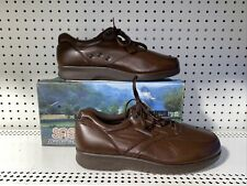 SAS Time Out Mens Leather Tripad Comfort Casual Walking Shoes Size 8 S Brown
