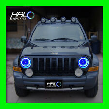 2002 2007 Oracle Lighting Jeep Liberty Blue Plasma Headlight Halo Ring Kit