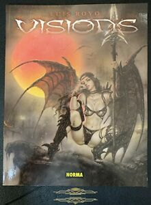 """ART BOOK LUIS ROYO """"VISIONS"""" SOFTCOVER FIRST EDITION NORMA EDITORIAL ZUSTAND 0+"""