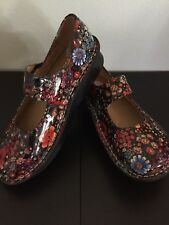 Womens Alegria Mary Jane Mulitcolor Flowered Shoes Size US 4.5