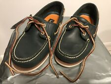 NWOB Men's Timberland Navy Blue Leather 2 Eye Boat Shoe, US 8, UK 7, EUR 41