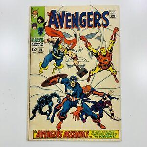 Avengers (Vol. 1) Issue 58 (1963-1996) Marvel Comics Hawkeye 2nd App. Vision