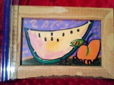 AE BARNES  ACRYLIC PAINTING ON CANVAS SIGNED  RENOWNED AMERICAN ARTIST