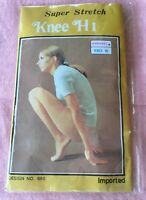 Vintage Retro super stretch knee hi nylons stockings brand new French yarn