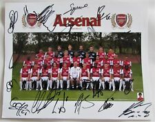 More details for football arsenal charity picture signed with signed certifcate  of authenticity