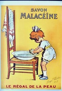 SAVON MALACEINE VINTAGE FRENCH ADVERTISING POSTER REPRODUCTION