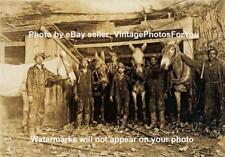 Old/Vintage 1908 West Virginia Coal Miner Boy Carbide Helmet Light/Lantern Photo