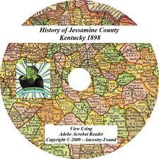 1898 History & Genealogy Jessamine County Kentucky KY