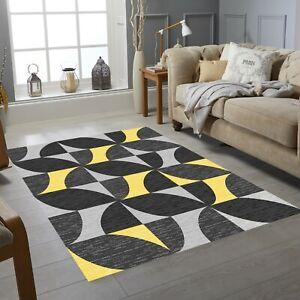Luxury Vista Collection Small Extra Large Living Room Floor Carpet Rug Yellow