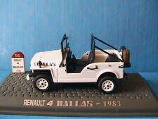 RENAULT 4 DALLAS 1983 WHITE 1/43 UNIVERSAL HOBBIES M6 INTERACTIONS WEISS BIANCA