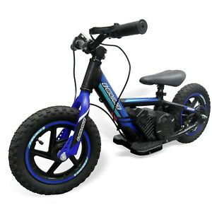 """Electric Balance Bike 12"""" 100w 24v with larger 5.2ah Battery  2 speed -Blue"""