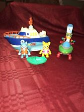 Special Agent Oso Motorboat Snowmobile And Dottie Wolfie Oso Figures Complete