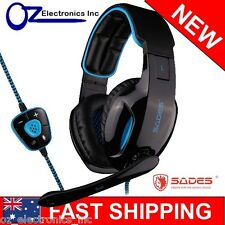 SADES SNUK USB PC Gaming Headset Micro Chat BRAND NEW Genuine Melbourne SA-902