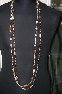 Designer  Kette Gold 750  Heller/Engel mit  antiken römischen Edelsteinperlen