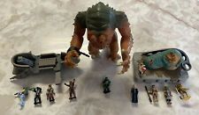 STAR WARS TATOOINE SKIFF JABA BATTLE PACK ACTION FLEET and RANCOR LOT RoJ Galoob