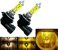 Halogen H12 9055 53W 3000K Yellow Two Bulbs Fog Light Replacement Plug Play Lamp