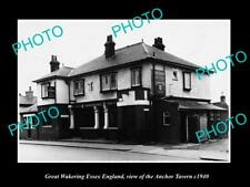 OLD LARGE HISTORIC PHOTO GREAT WAKERING ESSEX ENGLAND, THE ANCHOR TAVERN c1940